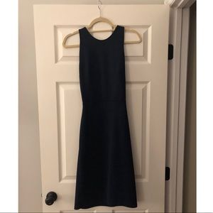 Navy form fitting dress